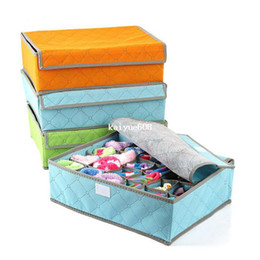 Wholesale Underwear Container - Free Shipping Drawer Organizer 7 16 24 Cell Sock Bra Leggings Ties Underwear Container Box