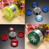 Wholesale Milling Cutters Wholesale - 7PCS Free Shipping Leaf Design Herbal Herb Tobacco Grinder Hand Muller 5 Layer Smoke Crusher Cutter