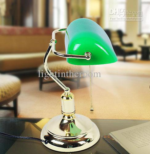 2017 Retro Table Lamps Vintage Brass Lamps U0026 Green Lampshade Living Room  Office Study Room Table Lamps Desk Lamp From Lightintheroom, $128.65 |  Dhgate.Com