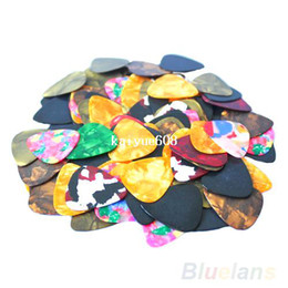 Wholesale Guitar Parts Wholesalers - Lots of 20pcs New Thin Guitar Picks Parts Accessories Celluloid 0.46mm   0.71mm Stringed Instruments