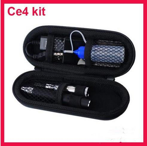 [ on sale ] Ego CE4 Kit Single Starter Kit Electronic Cigarette With Zipper Case 1 Atomizer 1 ego-t Battery 1 USB Charging line
