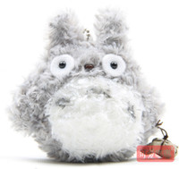 muñecas de amor de felpa al por mayor-Mini juguetes de peluche de la felpa Amor Mi vecino Totoro de la muñeca llavero El mejor regalo para el envío libre al por mayor de la muchacha 9 CM