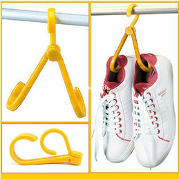 Wholesale Multifunction Clothes Rack - 4pcs lot Creative Home essential Multifunction Folding hang Drying shoe rack for Travel Outdoor bearing 3KG FREE SHIPPING