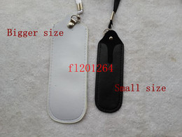 Wholesale Electronic Cigarette Leather Pouch - Portable Bigger PU Leather Lanyard Carrying Pouch Pocket Neck Sling Rope Case for Ego Electronic Cigarette QQ X6 KK PH2 K100 ect