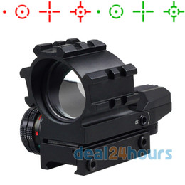 Wholesale Green Dot Reflex Sight - Holographic 4 Reticles Illumination Tactical Red & Green Dot Reflex Sight Scope Free Shipping!