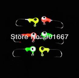 Wholesale Lead Free Jigs - New best price Jig Big Hook Eye 300pcs 1G Fishing hook Mini LEAD ROUND HEAD FISHING LURE JIGS HOOKS free shipping