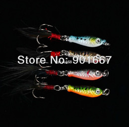 New Bait Canada - New Fishing Tackle 40pcs lot Lead Fishing hard Bait 6.4g 4 colors Fishing lure free shipping by china post