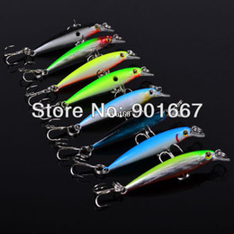 Free Soft Bait Minnows Canada - 2013 Mini Minnow Lures Classic Design Fishing Lures 8 colors 50mm 2.1g Fishing Tackle 30pc Lot fishing bait free shipping