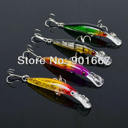 Free Soft Bait Minnows Canada - 2013 New Fishing tackle 4 colors 7CM 3.9G Transparent laser Minnow fishing lures 8pcs lot fishing bait,Free shipping
