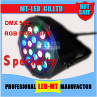 Wholesale Dmx512 Rgb Controller - Look !Best price 18*3W Led Stage Light High Power RGB Par Light With DMX512 Master Slave Led Flat DJ Equipments Controller,Free shipping