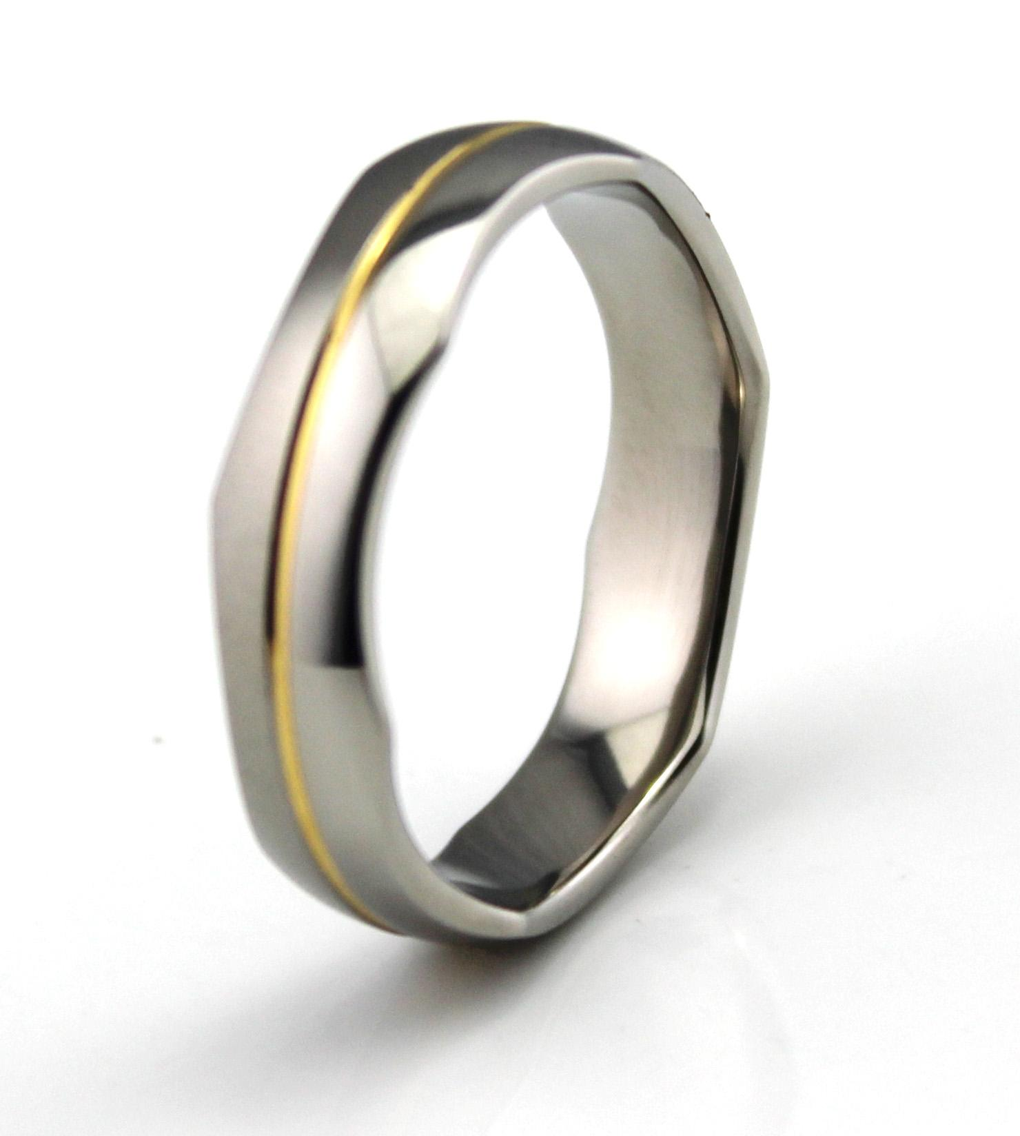 Wholesales 6mm Fashion Women S Jewelry Pure Titanium Ring 18k Gold