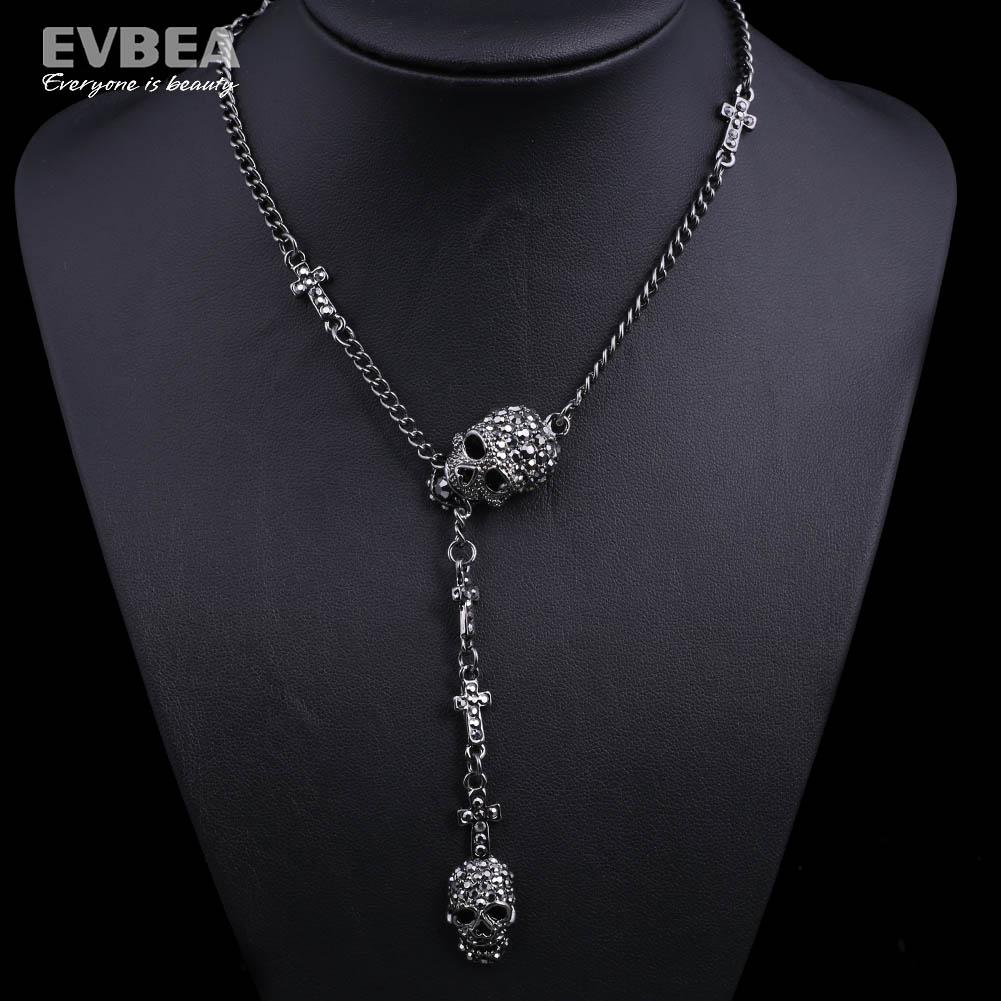 Wholesale skull pendant necklace skull jewelry for women crystal wholesale skull pendant necklace skull jewelry for women crystal skull pendant skull pendant jewelry skeleton head necklace for women 2015 fashion silver mozeypictures Images