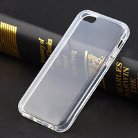 Wholesale Iphone 5c Silicone - S5Q Clear Transparent Soft TPU Silicone Gel Cover Case Back Skin For iPhone 5C AAADDL