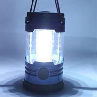 luzes suspensas venda por atacado-Lanternas ao ar livre Iluminação 12 LED Camping Lanterna Mais Brilhante Tenda Luz Iluminação ao ar livre Portátil Suspensão Lâmpada Caminhada Pesca Lanterna Portátil