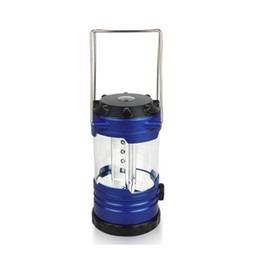 Wholesale Led Mini Light Hanging - 12LED Outdoor Camping Lantern Blue Tent Lanterns Mini Camp Light Hanging Lamp Light Portable Lanterns Camping Lights Hiking Portable Lights