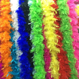 Wholesale Feather Boas White Turkey Feather Boa Party Hen Night Party Burlesque Scarf Bouquet Wrap Best Feather Boa Fluffy Craft Costume Dressup