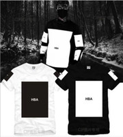 Wholesale Chinese Hood - Free shipping Chinese Size S--3XL 2014 summer t shirt Hood By Air HBA X Been Trill Kanye blank print Hba tee men tshirts 5 color 100% cotton