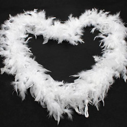 Chandelle Feather Boas Wholesale Australia - Feather Boas White Turkey Feather Boa Large Chandelle Marabou Feather Boa Wedding Ceremony Boas White Pink Orange Yellow Red Green for Sale