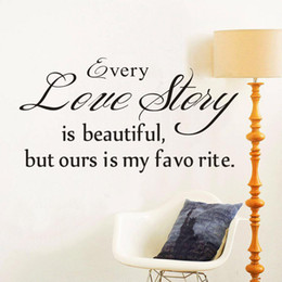 Wholesale Country Quotes - S5Q Love Story Quote Vinyl DIY Wall Decal Art Sticker Home Decor Lettering Words AAADDH