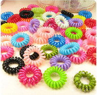 Wholesale new telephones resale online - New Arrival elastic Telephone Wire Cord Head Ties Hair Band Rope