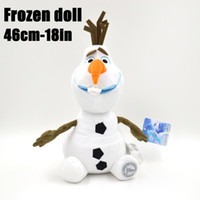 Wholesale Retail Plush Toys - 1404z 46cm 18inch OLAF frozen doll Retail baby doll action figures plush toy snowman snow toys 38293500345
