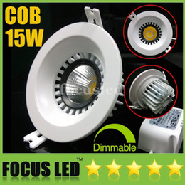 Wholesale Cob Led Watt - 4.5 inch-15W Watt 1500LM COB LED Downlights Recessed Lamps Warm Cool Nature White 4500K Fixture Ceiling Down Lights+Dimmable Non+CE&ROHS SAA