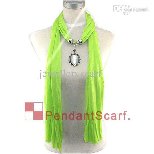 12st / mycket varm försäljning halsband hängsmycke halsduk smycken tillbehör oval opal metall rhinestone blomma halsduk hängande uppsättning, gratis frakt, AC0287
