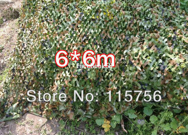 top popular 6*6m Car Drop netting Hunting Camping Military Camouflage Net jungle camouflage net Woodlands Leaves for Military 2020