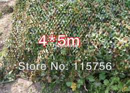 Wholesale Military Camo Netting For Hunting - 4*5m Woodland Leaves Camouflage Camo Net For Hunting Camping Military Photography