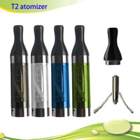 Wholesale Ego T2 V2 - Hot Sell T2 Clearomizer 2.4 ml Clearomizer T2 V2 ego cc clearomizer T2 for Ego C Twist E Cigarette DHL free