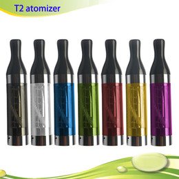 Ego T Replacement Tank Canada - E Cigarettes T2 Clearomizer Atomizer 2.4ml Tank Colorful Replacement for Electronic Cigarette ego-t ego vision Spinner battery DHL free
