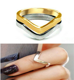 Wholesale Gold Plated Knuckle Rings - VINTAGE HOLLYWOOD Star Ring Shiny V Shaped Arrow Above Knuckle Midi Rings Set High Quality Fashion Jewelry NL021