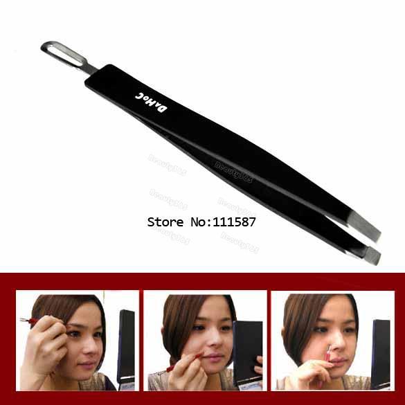 Promotion New 2 In 1 Eyebrow Clip Clamp Tweezers Curler Blackhead