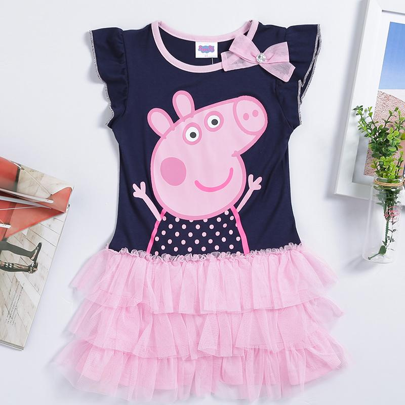 b29bc8976 Peppa Pig Girl's Dress Baby Girls Pepe Pig Dresses Children Fashion Clothing  Kids Cartoon Wear Child Girl Cothes D2668# From Ssyyzz0307, $33.17 |  DHgate.Com