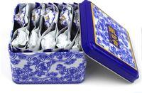 Wholesale Luzhou Flavor Tieguanyin - China anxi tieguanyin oolong tea tie guan yin luzhou-flavor tieguanyin tea premium with blue and white porcelain gift 10pcs  box