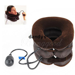 Wholesale Cervical Air Neck Traction - Free Shipping Cervical Neck Air Traction Device Shoulder Headache Relax Soft Brace Support Massager Pillow Relief Adjustable,dandys