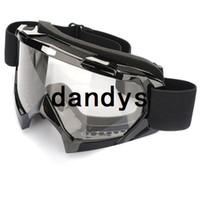 ingrosso occhiali da snowboard neri-Super Black Moto ATV Motocross Sci Snowboard Off-road Occhiali FITS OVER RX OCCHIALI Eye Lens Spedizione gratuita, dandys