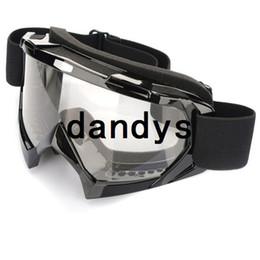 Wholesale Atv Skis - Super Black Motorcycle Bike ATV Motocross Ski Snowboard Off-road Goggles FITS OVER RX GLASSES Eye Lens Free shipping,dandys