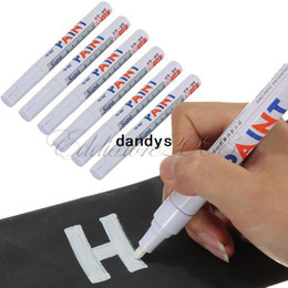 Wholesale Rubber Marker - Free Shipping 6pcs White Whatproof Permanent Motorcycle Car Tyre Tire Tread Rubber Paint Marker Pen,dandys
