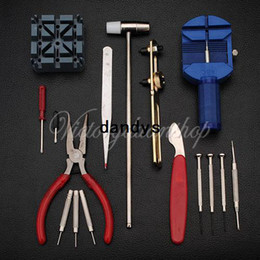 Wholesale Watch Adjusting Remover - Free Shipping 16pc Adjust Watch Back Case Spring Bar Remover Opener Repair Tool Kit Set Fix Pin Link Remover For Watchmaker,dandys