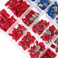 Wholesale Electrical Storage - Free Shipping 480pcs 12models Insulated Terminals Electrical Crimp Connector Butt Spade Ring Fork With Storage Box,dandys