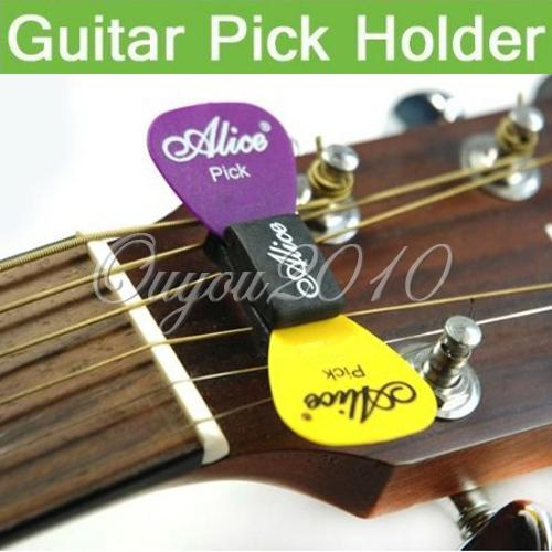 top popular Guitar HeadStock Rubber Pick Holder& 2pcs Mixed Picks Guitar Plectrums Celluloid Free Shipping Wholesale,dandys 2019