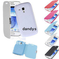 Wholesale Galaxy Duos S7562 Tpu Case - Flip PU Leather Magnetic Hard Back Case Cover Protector Protective For Samsung Galaxy Duos S7562 Trend S7560 Free Shipping,dandys