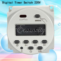 Wholesale Digital Display Time Relay - Free Shipping New LCD Display Digital Power Programmable Timer Weekly AC 220V 16A Time Relay Switch Control Wholesale,dandys