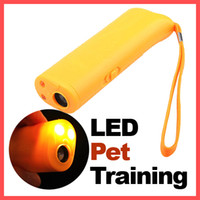 Wholesale Led Stop Lights - Dog Pet Ultrasonic Aggressive Dog Repeller Train Stop Barking Training Device LED Light Free Shipping,dandys