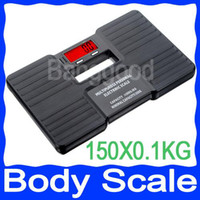 Wholesale Body Weight Balance - Portable 150KG x 0.1K Digital Electronic Balance Body Health Fitness Weight Scale Bathroom Free Shipping,dandys