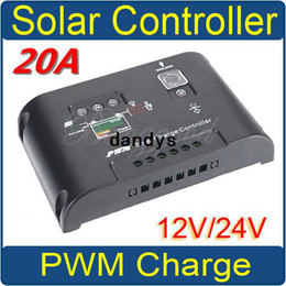 Wholesale Solar Panel Charge Controller Pwm - 20A PWM Solar Panel Charge Controller Regulator 12V 24V Auto Autoswitch New,dandys