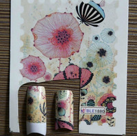 Wholesale Letter Nail Art Decals - 2014 NEW * 88 Style Stamp Postcard Letters Map Designs Nail Water Decal Transfer Sticker Nail Art Transfers Decals Wrap NATURAL FALSE Tips