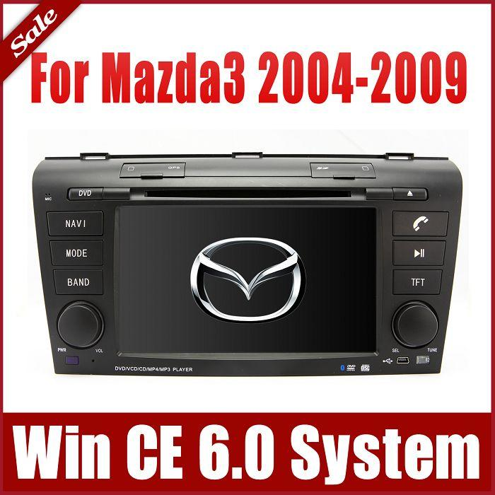 car dvd player for mazda 3 mazda3 2004 2009 with gps navigation radio bluetooth tv usb sd aux. Black Bedroom Furniture Sets. Home Design Ideas