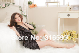 Lingerie En Gros Pour Les Femmes Noires Pas Cher-Lingerie Livraison gratuite Costumes sexy pour femme Lovely Black Nightdress Sexy Charming Sleepwear Vente en gros Dropship Sexy Sleepwear US1584